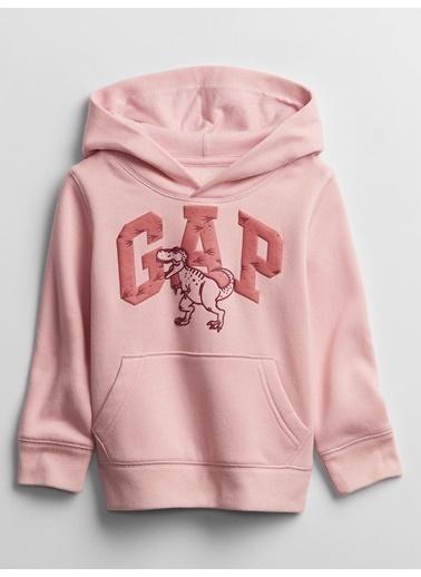 Gap Gap Logo Kapüşonlu Sweatshirt Pembe
